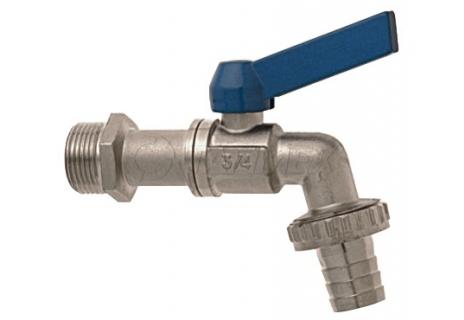 Zahradní kulový ventil, modrá páka