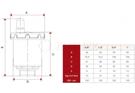 """Automatický odvzdušňovací ventil 3/8"""""""