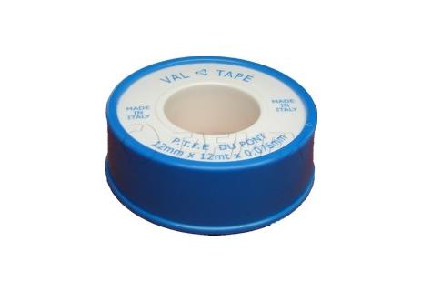 Teflonová páska voda 12 mm x 0,076 mm x 12 m