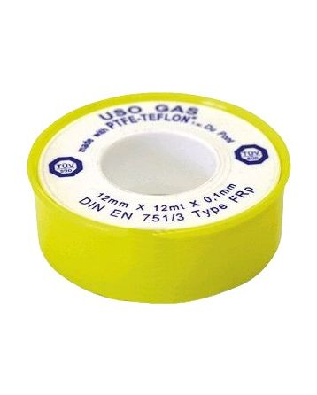Teflonová páska plyn 12 mm x 0,1 mm x 12 m