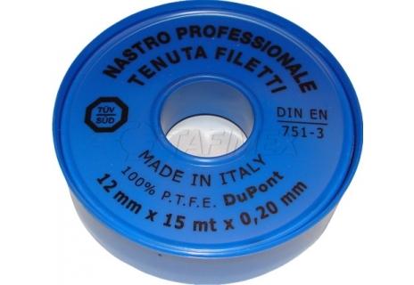 Teflonová páska voda 12 mm x 0,2 mm x 15 m
