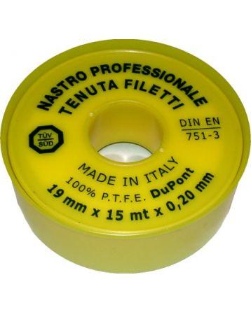 Teflonová páska plyn 19 mm x 0,2 mm x 15 m